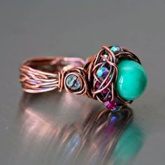 Twisted copper ring