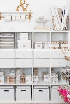 PHOTOS: 10 Feminine & Chic Office Spaces to Swoon Over & let's talk about this storage