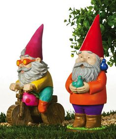 Look what I found on #zulily! Orange & Yellow Summer Fun Gnome Statuary Set #zulilyfinds