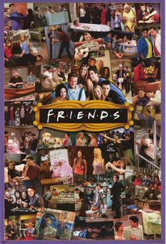 Friends TV Show Photo Collage Poster 2436 Wall Art Print Home Decoration New Friends Tv Show Cast, Serie Friends, Friends Moments, Friends Forever, Collage Poster, Poster Prints, Poster Poster, Posters, Art Print