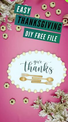 This Thanksgiving home decoration DIY is easy to do and perfect for upcycling! Snag the free lettering file to make this modern farmhouse decor for the holidays. #cricutmade #cricut #cricutmaker #cricutcreated #cricut #cricutmade #cricutexploreair #diy #silhouettecameo #handmade #vinyl #cricutcrafts #cricutcreations #silhouette #craft #crafts #personalized #cricutexplore #crafty #thanksgivingdecordiy #thanksgivingdiy Thanksgiving Home Decorations, Thanksgiving Projects, Modern Farmhouse Decor, Cricut Creations, Lettering, Crafty, Simple, Frame, Sweet