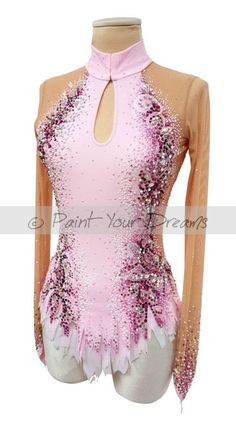 RG custom leotard number 365 No cut out, straight skirt. Like the diamante pattern