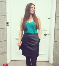 www.streetstylecity.blogspot.com Fashion inspired by the people in the street ootd look outfit sexy leather skirt