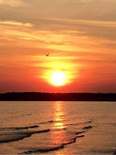 Stunning sunset at Old Saybrook, CT 6-26-16. Photo by John Brown