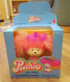 vintage poochie with stamper paws    i had totally forgotten about the existence of poochie until i saw her in someone's photostream recenty.    it was mostly stationery type items... paper, stamp pads, etc... from the early/mid 80s.    i def had some poochie stuff as a kid