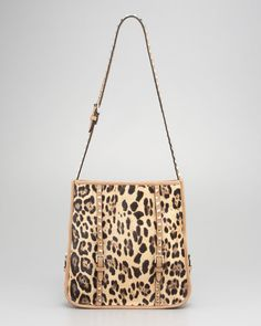 Valentino Animal Rockstud Calf Hair Small Shopper Tote as seen on Ashley Tisdale