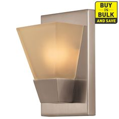 Portfolio 5.52-in W 1-Light Brushed Nickel Pocket Wall Sconce
