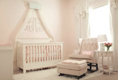 Crib Crown // Bed Crown Canopy // Baby Girl Nursery // Nursery Design // Bedroom Decor by TheChicDecorShop on Etsy https://www.etsy.com/listing/246806314/crib-crown-bed-crown-canopy-baby-girl