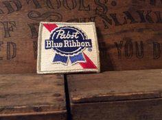 Vintage Estate Pabst Blue Ribbon Beer Jacket Patch by MADVintology, $8.00