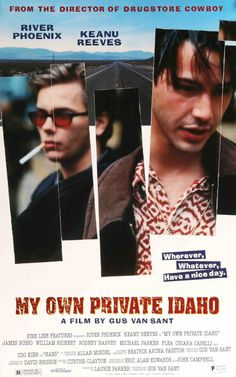 My Own Private Idaho River Phoenix, Keanu Reeves, James Russo - Director: Gus Van Sant IMDB: Two best friends living on the streets of Portland as hustlers embark on a journey of self discovery and find their relationship stumbling along the way. My Own Private Idaho, River Phoenix Keanu Reeves, 90s Movies, Great Movies, Movies To Watch, Amazing Movies, Cult Movies, Romance Movies, Love Movie