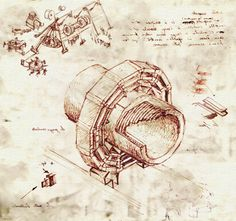 Leonardo da Vinci may have been a forward-thinking engineer, but what if he had gotten into the particle physics game? CERN researcher Dr. Sergio Cittolin brought out his (not so) inner Renaissance Man with these illustrations of the Large Hadron Collider in Leonardo's style.