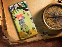 Samsung Cases, iPhone 6/6s/6 Plus/6s Plus/5s, LG Phone, Art Phone Case, Whimsical Phone case, Red haired girl, birds and bird cage by SaidTheOwl on Etsy