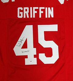 Archie Griffin Autographed Ohio State Buckeyes Red Jersey HT 1974  75 PSADNA -- Want additional info? Click on the image. (This is an affiliate link and I receive a commission for the sales)