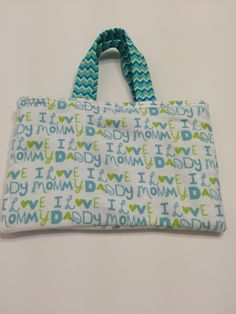 I Love Mommy & Daddy Blue  - Toddler Tote, $15.00