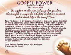 Gospel Power - First Sunday of Advent