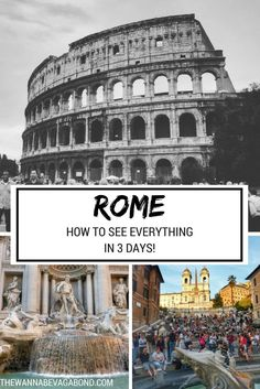 A post all about how to squeeze the best of Rome into a 3 day stay! Italy Travel Tips, Rome Travel, Travel Deals, Travel Europe, Travel Guides, Rome Vacation, European Vacation, European Travel, Best Of Rome