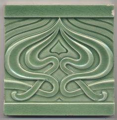 Super rare Utzschneider Ornament Jugendstil Fliese art nouveau tile | eBay
