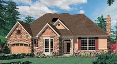 This 1 story European features 3,955 sq feet. Call us at 866-214-2242 to talk to a House Plan Specialist about your future dream home!