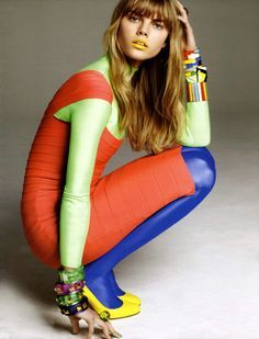 Color block with tights!