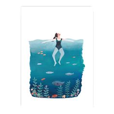 THE OCEAN & I Art Print by Jade Fisher