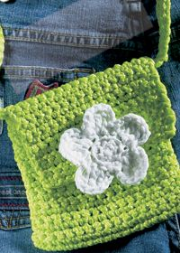 "Free pattern for ""Mini Crochet Flower Bag""!"