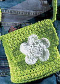 """Free pattern for """"Mini Crochet Flower Bag""""!"""