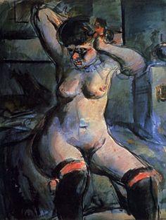 La puta con ligas rojas, 1906 - Georges Rouault