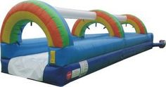 Order our rainbow single lane slip n slide today for fun all summer long! Commercial inflatable water slides are great for parties! Quick & eas...