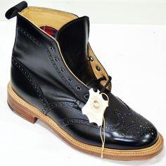 'BROGUE BOOT' BARACUTA MENS RETRO SIXTIES MADE IN ENGLAND MOD BROGUE BOOTS - Mens Limited Edition Mo