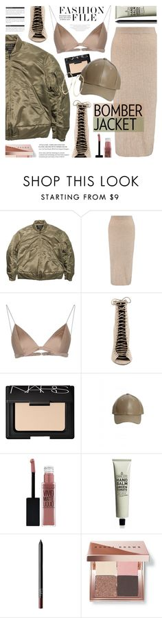 """""""Bomber Jacket (Summer Edition)"""" by noviii ❤ liked on Polyvore featuring adidas Originals, Iris & Ink, T By Alexander Wang, Kendall + Kylie, NARS Cosmetics, Maybelline, Bobbi Brown Cosmetics, River Island, BoConcept and bomberjackets"""