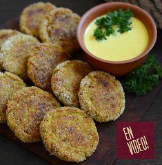 Hamburguesas de Acelga - Hamburguesas Vegetales | Video receta fácil de preparar para cocinar en casa todos los días Dip Recipes, Mashed Potatoes, Healthy Life, Zucchini, Lunch, Cooking, Ethnic Recipes, Food, Curry