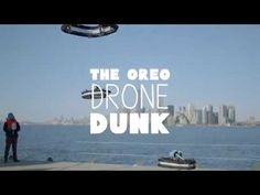 OREO cookie drones fly against the New York City skyline for this epic, height-defying dunk.