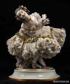 Прима-балерина, кружевница, Дрезден, Германия, кон. 19 в.