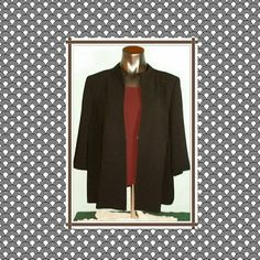 "🌟Sale🌟on ""Tesori"" Blazer Tesori Black 3/4 sleeve lined blazer dress jacket  with a pocket on the inside. Shell: 71% Triacetate and 29% Polyester  Lining: 100% Acetate Tesori  Jackets & Coats Blazers"