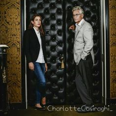 """ #CharlotteCasiraghi and #AndreComteSponville"""