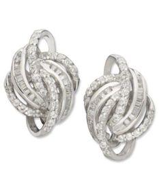 Wrapped in Love™ Love Knot Diamond Earrings in 14k White Gold (1/2 ct. t.w.)