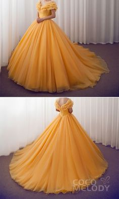 long prom dresses Two Piece Bridesmaid Cinderella Meets with Beauty and the Beast to Take The Original Style to the Next Level! Who's a Disney Lover too weddingdresses Cinderella customdresses cocomelody beautifulquinceaneradresses Quince Dresses, Ball Dresses, Evening Dresses, Disney Ball Gown, Ball Gown Prom Dresses, Red Ball Gowns, Tulle Ball Gown, Long Prom Gowns, Robes Disney