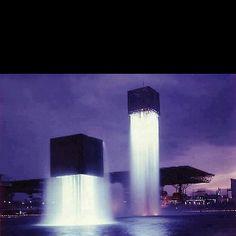 Floating fountains, Osaka, Japan