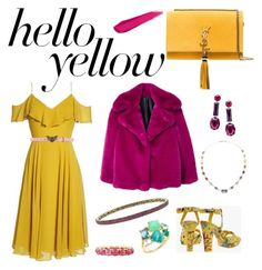and it was all yellow- Studio 54 inspired glam outfit Studio 54, Yves Saint Laurent, Mango, Gucci, Inspired, Yellow, Polyvore, Stuff To Buy, Outfits