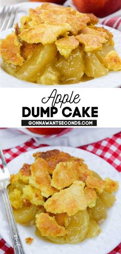 *NEW* Four things that make this apple dump cake recipe fantastic: It's easy to put together, quick to make, it's absolutely delicious, and it only requires three ingredients. #applecake #dumpcake #appledumpcake #cake #easydesserts #desserts Apple Dump Cakes, Dump Cake Recipes, Apple Cake, Frosting Recipes, Cake Cover, Stick Of Butter, Easy Desserts, Cooking, Food