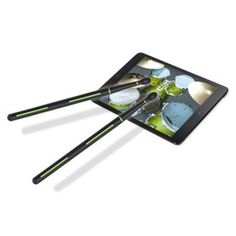 Stickteck Drummerz Tablet Drumsticks for Percussion Apps on iPad Android Tablets . Latest Gadgets, Cool Gadgets, Tech Gadgets, Apple Ipad Accessories, Android Apps, Android Phones, Free Android, Tablet Cover, Ipad Stand