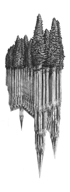 Gothic Revival by Evan Wakelin the artist creates an depth of sinister illusion in this interesting piece.