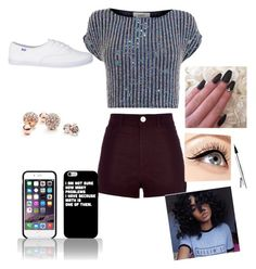 """""""Untitled #9"""" by dachiri on Polyvore featuring River Island, Coast, GUESS and Luminess Air"""