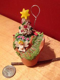 Fairy garden for a fairy garden-Christmas