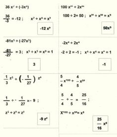 división de monomios