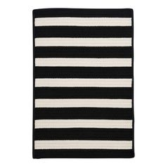 Colonial Mills Stripe It Black/White Indoor/Outdoor Area Rug Rug Size: Runner 2' x 10'