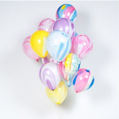 RAINBOW MARBLE BALLOONS perfect for a Unicorn birthday party or any colorful event. Bonjour Fete - a party boutique