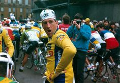 Sean Kelly before the start of Milan-San Remo