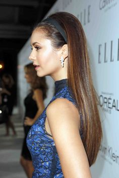 Picture of Nina Dobrev Most Beautiful Women, Beautiful People, Straight Hairstyles, Cool Hairstyles, Hairdos, Katherine Pierce, Elena Gilbert, Portraits, About Hair