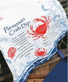 Crab Dip Flour Sack Towel